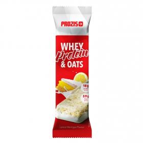 Barrita de proteína de suero de leche y avena sabor merengue de limón Prozis 80 g.