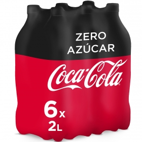 Refresco de cola Coca Cola zero pack de 6 botellas