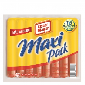 Salchichas de pavo maxi pack Oscar Mayer sin gluten 880 g.