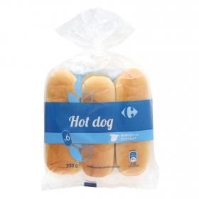 Panecillos para perritos calientes Carrefour 330 g.