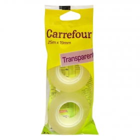 Pack 2 Rollos Adhesivos Transparente 25x19mm Carrefour