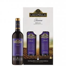 LOTE 74: 2 botellas D.O. Ca. Rioja Langunilla tinto reserva 75 cl.