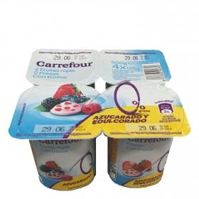 Yogur desnatado panache con fresa