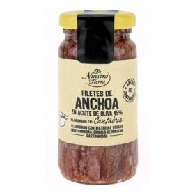 Filetes de anchoa del Cantábrico De Nuestra Tierra 100 g.