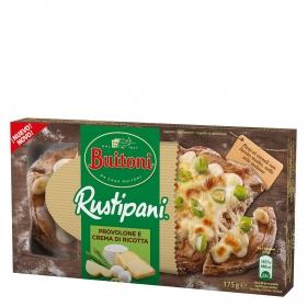 Rustipani de provolone y crema de queso