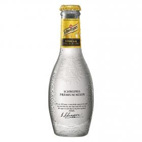 Tónica Schweppes con toque de lima premium botella 20 cl.