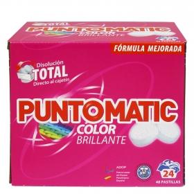 Detergente pastillas ropa de color 24 lavados