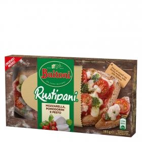 Rustipani de  mozzarella, tomates cherry y queso