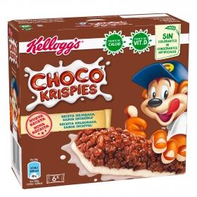 Barritas de cereales Choco Krispies Kellogg's 6 unidades de 20g.