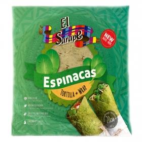 Tortillas de trigo espinacas El Sarape 320 g.