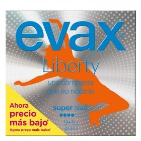 Compresas super con alas Evax Liberty 10 ud.