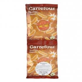 Aperitivo de maíz sabor cacahuete Carrefour pack de 2 unidades de 75 g.