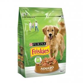Purina Friskies Pienso para Perro Adulto Aves y Verduras 3Kg