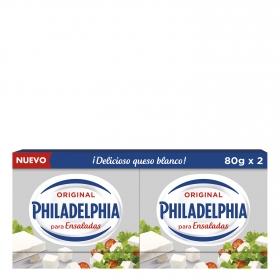 Queso blanco para ensaladas Philadelphia pack de 2 unidades de 80 g.