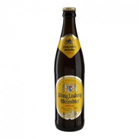 Cerveza König Ludwig Weissbier Hell botella 50 cl.