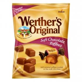 Caramelos sabor chocolate y toffe Werther's 120 g.