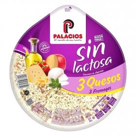 Pizzas 3 quesos sin lactosa