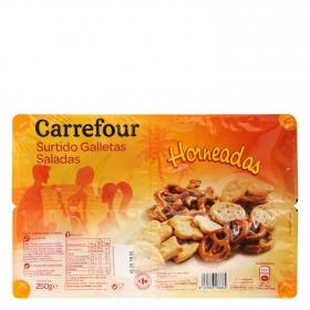 Galletas saladas surtido Carrefour 250 g.