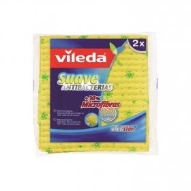 2 Bayetas Multiusos Suave Antibacterias odor stop VILEDA  - Amarilla