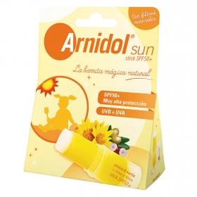 Stick SPF 50+ sun con filtros minerales Arnidol 15 ml.