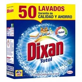 Detergente en polvo Total Dixan 50 lavados.