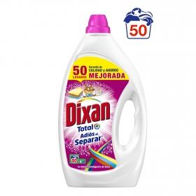 Detergente adiós al separar líquido Dixan 50 lavados.
