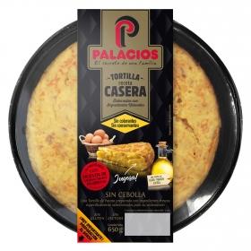 Tortilla sin cebolla sin gluten y sin lactosa