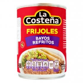 Frijoles bayos refritos La Costeña 580 g.