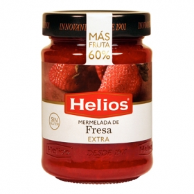 Mermelada de fresa categoría extra Helios sin gluten 350 g.