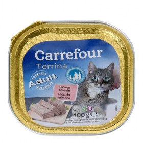 Alimento Húmedo para Gatos Salmón 100 gr, Carrefour