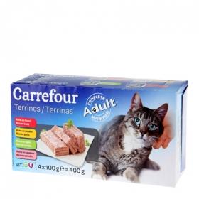 Alimento Húmedo para Gatos Latas Surtidas 4X100 gr, Carrefour