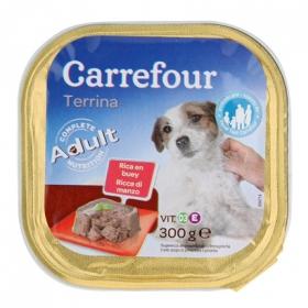 Delicias de buey para perro