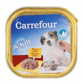 Alimento Húmedo para Perros Adulto Pollo 300 gr, Carrefour