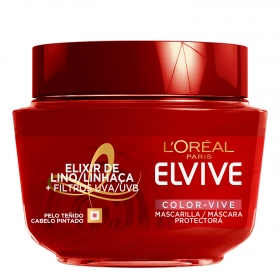 Mascarilla capilar color vive L'Oréal Elvive 300 ml.