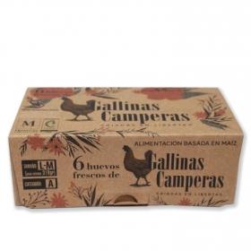 Huevos L-M camperos Granjas Villarreal 6 ud