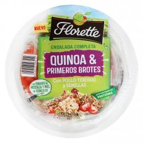 Ensalada quinoa y brotes