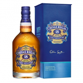 Whisky Chivas Regal escocés 18 años 70 cl.