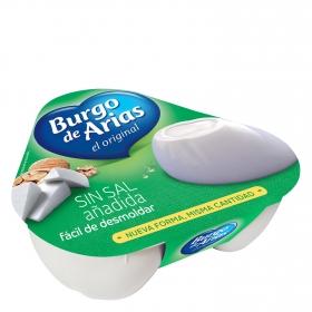 Queso blanco pasteurizado sin sal Burgo de Arias pack de 3 unidades de 72 g.
