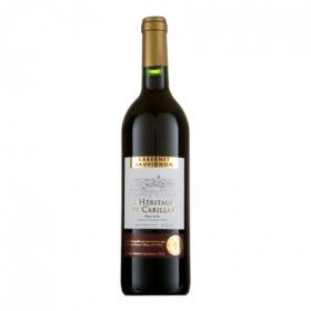 Vino vdp oc cabernet sauvignon rouge Heritage de Carillan 75 cl.