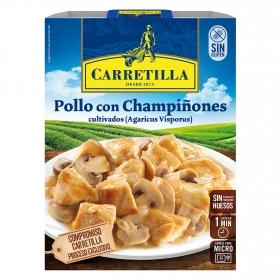 Pollo con champiñones Carretilla 250 g.