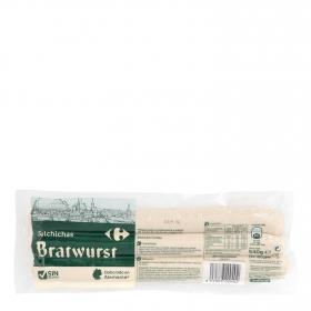 Salchichas bratwurst Carrefour sin gluten 540 g.