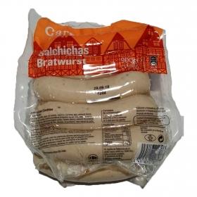 Salchichas bratwurst Carrefour 990 g.