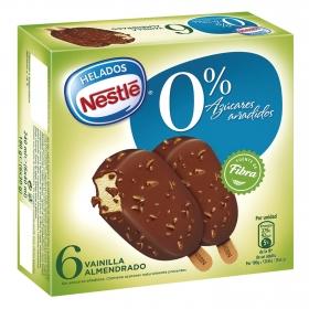 Bombón helado sabor vainilla almendrado Nestlé Helados 6 ud.