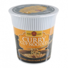 Tallarines curry vaso