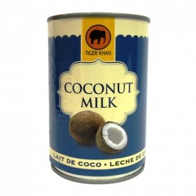 Leche coco normal lata Tiger Khan 400 ml.