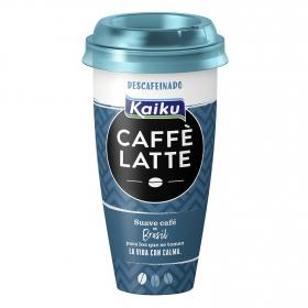 Café latte descafeinado