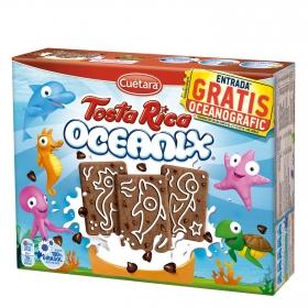 Galletas con pepitas de chocolate Oceanix Tosta Rica Cuétara 480 g.