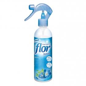 Perfumador de ropa Instant Azul Spray Flor 345 ml.