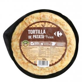Tortilla de patata sin cebolla Carrefour sin gluten 500 g.