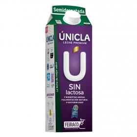 Leche semidesnatada premium Únicla sin lactosa brik 1 l.